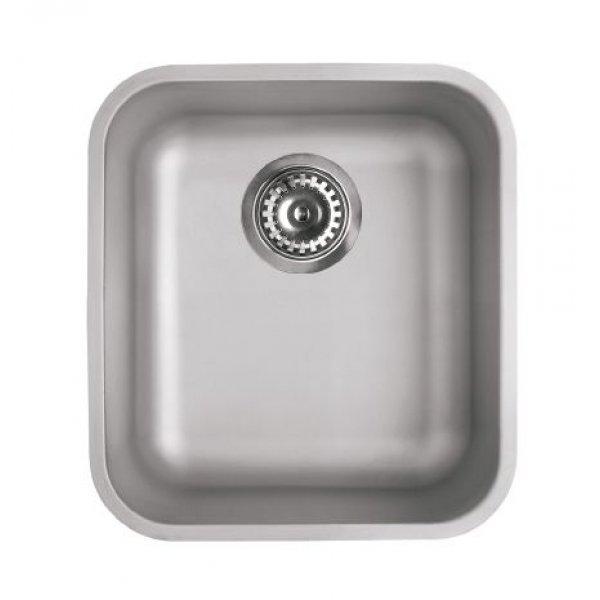 Rozsdamentes mosogató - Space 340 R50 inox munkalap alá szerelhető