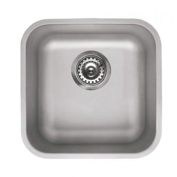 Rozsdamentes mosogató - Space 400 R50 inox munkalap alá szerelhető