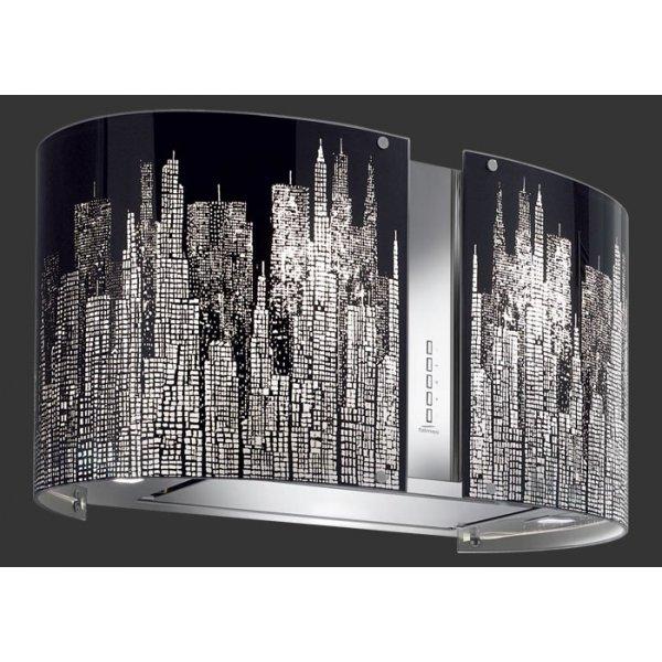 Külső burkolat - MANHATTAN üveg (Round 67 fali) Mirabilia páraelszívókhoz