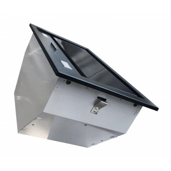 Felső szekrénybe vagy kürtőbe építhető páraelszívó - BUILT-IN 50 MAX VETRO fekete