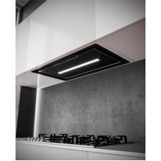 Felső szekrénybe vagy kürtőbe építhető páraelszívó - SL-921 78cm fekete üveg