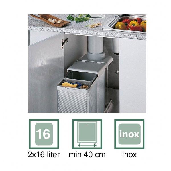 Konyhai szeméttárolok, hulladékgyűjtők - 8123800 konyhai szelektív hulladékgyűjtő