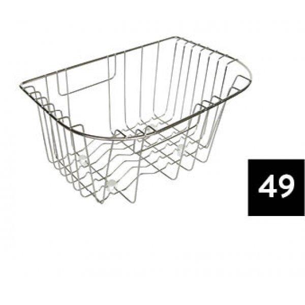 Edényszárító kosár és rács - ELLECI ACI01305 Inox edényszárító kosár SKY 360 mosogatóhoz