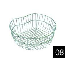 Edényszárító kosár és rács - ELLECI ACI02300 Ego kerek inox edényszárító kosár