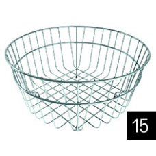 Edényszárító kosár és rács - ELLECI ACI02301 Kerek inox edényszárító kosár