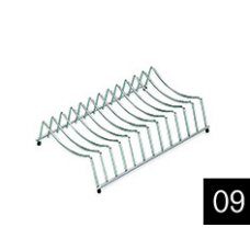 Edényszárító kosár és rács - ELLECI ADI01300 Inox edényszárító rács