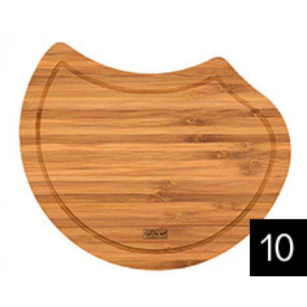 Vágódeszka mosogatótálcához - ELLECI ATL02300 Ego kerek fa vágódeszka