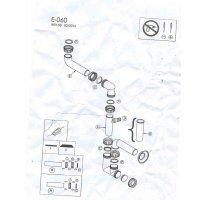 ELLECI szifon készlet egymedencés mosogatókhoz