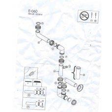 Automata leeresztők (szűrők,szifonok) - ELLECI szifon készlet egymedencés mosogatókhoz