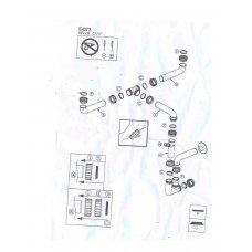 Automata leeresztők (szűrők,szifonok) - ELLECI szifon készlet kétmedencés mosogatókhoz