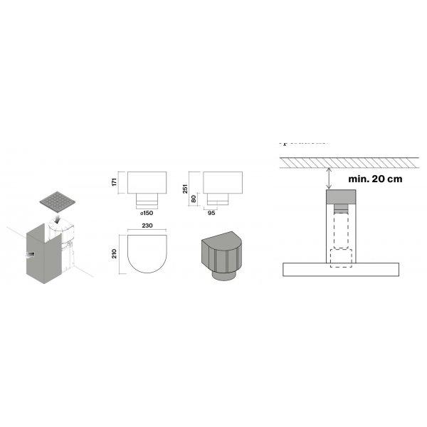 Szénszűrő - FALMEC Carbon.Zeo szűrő szett fektetett T fali elszívókhoz