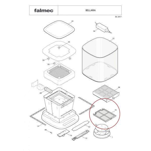 Szénszűrő - FALMEC BELLARIA porszűrő