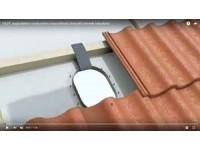 VILPE napkollektor rendszerhez is használható átvezető elemek telepítése